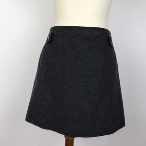 J. Crew Wool Cashmere Blend Mini Skirt SK15